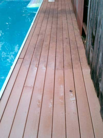 Half Corte*Cleaned® Mold Stained Fiberon® Deck